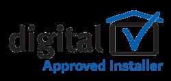Logo approved installer transparent